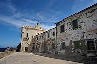 Isola di Pianosa.Pianosa Island.Pianosa. Il borgo.Village.Palazzo della Specola. Palace of the Specola..