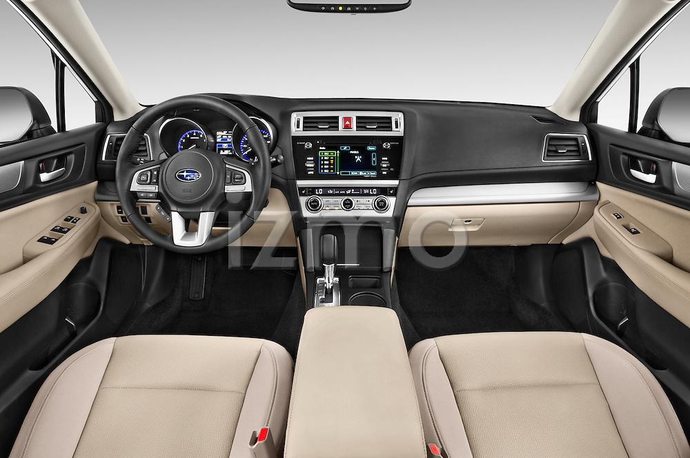 Stock photo of straight dashboard view of a 2017 Subaru Legacy 2.5I Premium 4 Door Sedan 2WD Dashboard