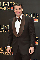 Joe McElderry<br /> The Olivier Awards 2018 , arrivals at The Royal Albert Hall, London, UK -on April 08, 2018.<br /> CAP/PL<br /> &copy;Phil Loftus/Capital Pictures