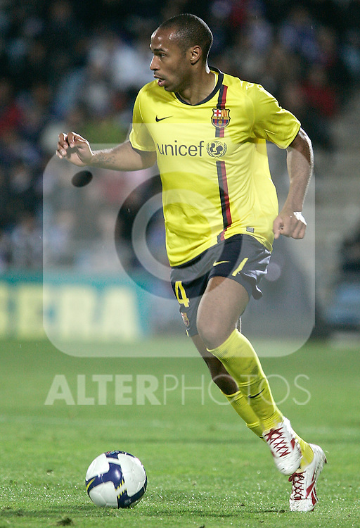 Barcelona's Thierry Henry during La Liga match, April 18, 2009. (ALTERPHOTOS/Alvaro Hernandez).