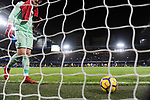 An unhappy Stoke City goalkeeper Jack Butland at the end the premier league match at Stamford Bridge Stadium, London. Picture date 30th December 2017. Picture credit should read: Robin Parker/Sportimage