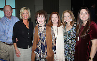 NWA Democrat-Gazette/CARIN SCHOPPMEYER Billie Starr (third from left)is joined by family members Kent and Sara Starr (from left), Shannon Starr Arcana, Rachel Sloan and Christina Guerin at the National Philanthropy Day luncheon Wednesday where she was given a Lifetime Achievement Award by the Northwest Arkansas chapter of the Association of Fundraising Professionals.