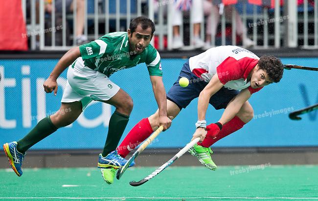 28/06/2015<br /> HWL Semi Final Antwerp Belgium 2015<br /> Pakistan v France Men<br /> Simon Martin Brisac<br /> Photo: Grant Treeby