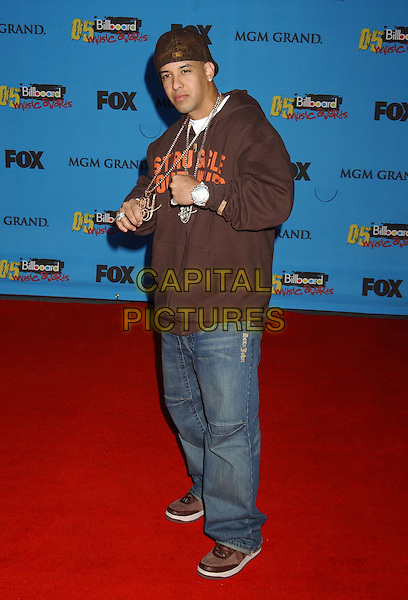 "DADDY YANKEE.Nominee Rap Song of the Year for ""Lovers & Friends""..2005 Billboard Music Awards held at the MGM Grand Hotel & Casino, Las Vegas, Nevada..December 6th, 2005.Photo: Laura Farr/AdMedia/Capital Pictures.Ref: LF/ADM.full length jeans denim brown sweater chains necklaces hat.www.capitalpictures.com.sales@capitalpictures.com.© Capital Pictures."