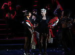 Mel B with Amra-Faye Wright during their Curtain Call Bows in Broadway's 'Chicago' at  the Ambassador Theatre in New York City.