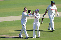 Simon Harmer of Essex celebrates taking the wicket of Luke Fletcher during Essex CCC vs Nottinghamshire CCC, Specsavers County Championship Division 1 Cricket at The Cloudfm County Ground on 14th May 2019