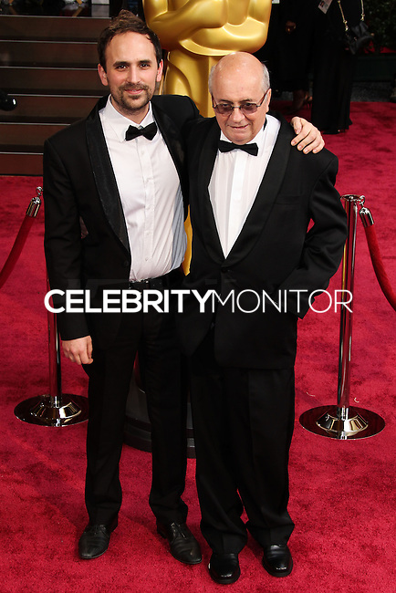 HOLLYWOOD, LOS ANGELES, CA, USA - MARCH 02: Benjamin Renner, Didier Brunner at the 86th Annual Academy Awards held at Dolby Theatre on March 2, 2014 in Hollywood, Los Angeles, California, United States. (Photo by Xavier Collin/Celebrity Monitor)