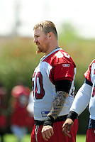 Jun 9, 2008; Tempe, AZ, USA; Arizona Cardinals center (50) Al Johnson during mini camp at the Cardinals practice facility. Mandatory Credit: Mark J. Rebilas-