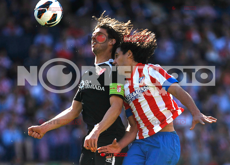 Atletico's Falcao  during La Liga BBVA match. April 14, 2013.(ALTERPHOTOS/Alconada)
