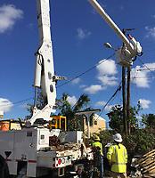 2017 FPL Hurricane Irma restoration in Opa Locka, Fla. on September 15, 2017.