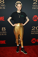6 January 2018 - Los Angeles, California - Asia Kate Dillon. Showtime Golden Globe Nominee Celebration held at the Sunset Tower Hotel in Los Angeles. Photo Credit: AdMedia