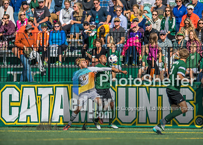 24 September 2016: University of Vermont Catamount Forward/Midfielder Stefan Lamanna, a Senior from Pickering, Ontario, battles Dartmouth College Big Green Midfielder Alexander Marsh, a Senior from Plantation, FL, at Virtue Field in Burlington, Vermont. The teams played to an overtime 1-1 tie in front of an Alumni Weekend crowd of 1,710 fans. Mandatory Credit: Ed Wolfstein Photo *** RAW (NEF) Image File Available ***