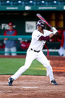 Trey Massenberg (12) of the Missouri State Bears at bat during a game against the Southern Illinois University- Edwardsville Cougars at Hammons Field on March 9, 2012 in Springfield, Missouri. (David Welker / Four Seam Images)