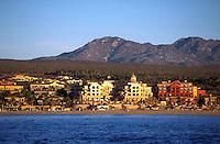 Resort hotels between Cabo San Lucas and San Jose del Cabo. Baja, Mexico.