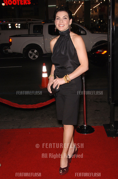 "Actress JULIANNA MARGULIES at the Los Angeles premiere of her new movie ""Snakes on a Plane"" at the Chinese Theatre, Hollywood..August 17, 2006  Los Angeles, CA.© 2006 Paul Smith / Featureflash"