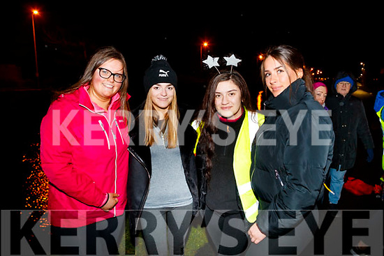 Riadh O'Sullivan, Riadh O'Sullivan, Seniz Kuccuk and Michaella Sugrue, pictured at the Mounthawk Family First Walk, at the Canal on Friday night last