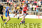 Peter O'Shea Kenmare in action against Daniel O'Sullivan Rathmore in the Senior County Football Semi Final in Fitzgerald Stadium on Sunday.