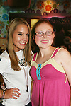 One Life To Live's Kristen Alderson poses with fan Jennifer at her annual Fan Gathering on August 16, 2009 at Big Daddy's Diner, New York City, New York. Great time. (Photo by Sue Coflin/Max Photos)