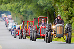 Eamon Walsh Brosna leads the Paudie Fitzmaurice memorial tractor run into Cordal on Sunday