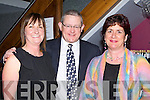 Brigid Tangney, Mike and Mary Fuller at the fashion show in the Chapter 40 restaurant, Killarney on Friday night..