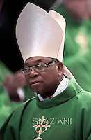 Cardinal John Onaiyekan.Pope Francis,  at St. Peter's Basilica in Vatican.during the mass New Cardinals on February 15 2015