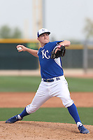 Alex Black #50 of the Kansas City Royals pitches during a Minor League Spring Training Game against the Texas Rangers at the Kansas City Royals Spring Training Complex on March 20, 2014 in Surprise, Arizona. (Larry Goren/Four Seam Images)