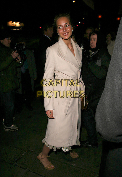 LADY ISABELLA HERVEY.Party at The Collection, London, UK..February 16th, 2006.Ref: AH.full length white coat .www.capitalpictures.com.sales@capitalpictures.com.© Capital Pictures.