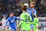 01.12.2018, wirsol Rhein-Neckar-Arena, Sinsheim, GER, 1 FBL, TSG 1899 Hoffenheim vs FC Schalke 04, <br /> <br /> DFL REGULATIONS PROHIBIT ANY USE OF PHOTOGRAPHS AS IMAGE SEQUENCES AND/OR QUASI-VIDEO.<br /> <br /> im Bild: Joelinton (TSG Hoffenheim #34) gegen Bastian Oczipka (FC Schalke 04 #24)<br /> <br /> Foto &copy; nordphoto / Fabisch