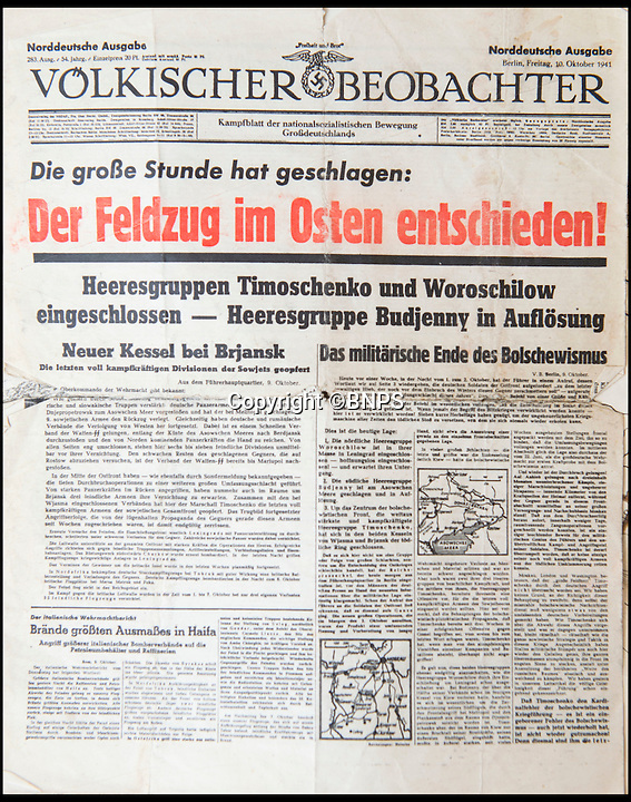 BNPS.co.uk (01202 558833)<br /> Pic: TomWren/BNPS<br /> <br /> The magazine that Sergeant Frederick Foster was reading when surrounded by German troops.<br /> <br /> The poignant story of how a British Prisoner of War paid with his life for turning back for a comrade during an audacious escape has been uncovered in an old suitcase.<br /> <br /> Frederick Foster and Antony Coulthard had travelled 1,000 miles across Poland and Germany before one of them was caught by a German guard on the Swiss border.<br /> <br /> Coulthard, who was free, went back for him and was also caught. He went on to die on a 'death march' towards the end of the war. <br /> <br /> Now Sgt Foster's son Steve is turning the epic escape into a book.