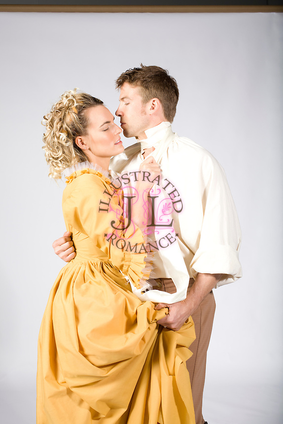 Romance Book Cover Up : Historical themed couple stock image for romance novel