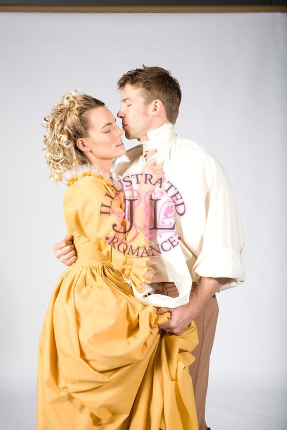 Romance Book Cover Stock Photos : Historical themed couple stock image for romance novel