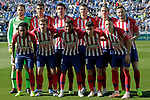 Atletico de Madrid's team photo with Jan Oblack, Rodrigo Hernandez, Stefan Savic, Lucas Hernandez, Filipe Luis, Saul Niguez, Gelson Martins, Antoine Griezmann, Thomas Lemar, Angel Correa and Santiago Arias during La Liga match. November 3,2018. (ALTERPHOTOS/Acero)
