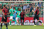 01.09.2019, wohninvest Weserstadion, Bremen, GER, 1.FBL, Werder Bremen vs FC Augsburg, <br /> <br /> DFL REGULATIONS PROHIBIT ANY USE OF PHOTOGRAPHS AS IMAGE SEQUENCES AND/OR QUASI-VIDEO.<br /> <br />  im Bild<br /> <br /> 2:1 Joshua Sargent (Werder Bremen #19) gegen Tomáš Koubek / Tomas (FC Augsburg #21) Stephan Lichtsteiner (FC Augsburg #03)<br /> <br /> Foto © nordphoto / Kokenge