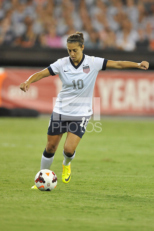 Carli Lloyd (10) of the USWNT.  The USWNT defeated Mexico 7-0 during an international friendly, at RFK Stadium, Tuesday September 3 , 2013.