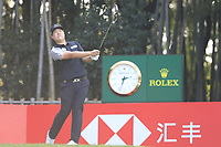 Sungjae Im (KOR) on the 17th tee during the final round of the WGC HSBC Champions, Sheshan Golf Club, Shanghai, China. 03/11/2019.<br /> Picture Fran Caffrey / Golffile.ie<br /> <br /> All photo usage must carry mandatory copyright credit (© Golffile | Fran Caffrey)