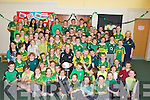 FOOTBALL: Colm Cooper Kerry senior football player and Dr Crokes,Killarney gave the children of Fenit NS on Thursdayu a run for their money as he showed the pupils some skills while playing football........
