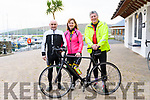 John and Kathleen Forde with Tommy Long at the annual New Year's Eve cycle organized by the Dingle Cycling Club.