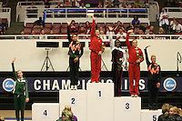 8 April 2006: Stanford's Tabitha Yim won the all-around competition and Natalie Foley placed third during the NCAA West Regional women's gymnastics championships at Maples Pavilion in Stanford, CA.