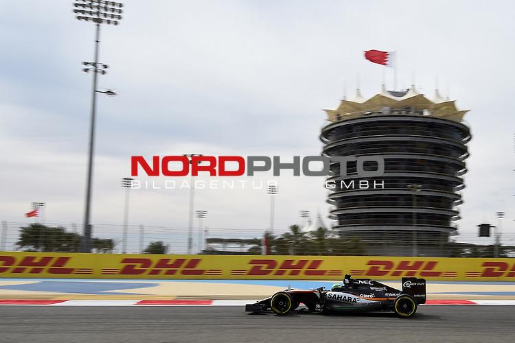 01.04.. bis 03.04.2016 International Circuit, Sakhir, BRN, FIA, Formel 1, Grand Prix von Bahrain, Race 03, im Bild<br /> Niko H&uuml;lkenberg (GER#27), Sahara Force India Formula One Team<br /> Foto &copy; nordphoto /  Bratic