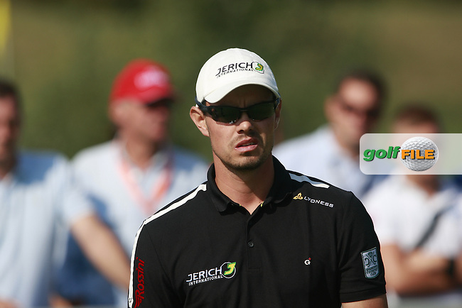 Jurgen Maurer (AUT) waits to tee off on the 1st tee to start his game during Saturday's Round 3 of the Austrian Open presented by Lyoness at the Diamond Country Club, Atzenbrugg, Austria, 24th September 2011 (Photo Eoin Clarke/www.golffile.ie)