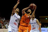 GRONINGEN - Basketbal, Nederland - Italie, WK kwalificatie 2019, Martiniplaza, 01-07-2018 Shane Hammink met Brian Sacchetti