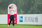 Celine Herbin of France tees off at the 6th hole during Round 4 of the World Ladies Championship 2016 on 13 March 2016 at Mission Hills Olazabal Golf Course in Dongguan, China. Photo by Victor Fraile / Power Sport Images