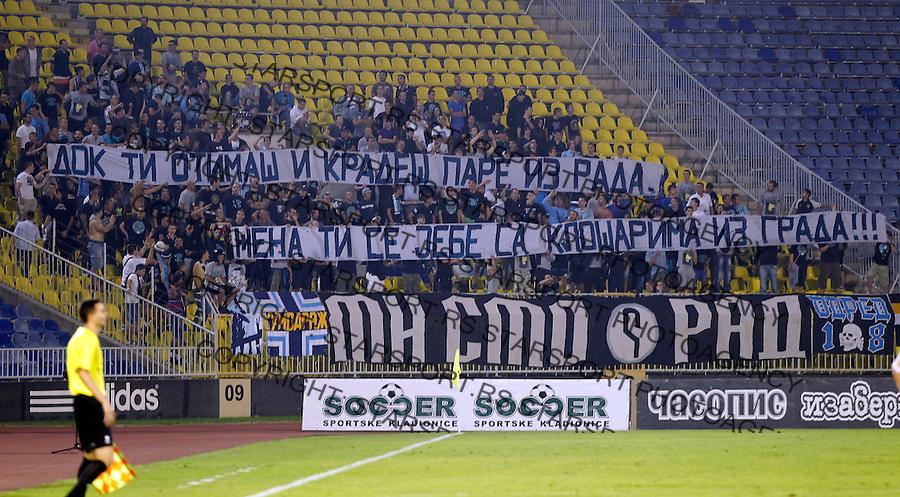 Fudbal Super liga season 2013-2014<br /> Partizan v Rad<br /> United Force navijaci FC Rad <br /> Beograd, 01.09.2013.<br /> foto: Srdjan Stevanovic/Starsportphoto &copy;
