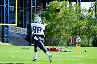 July 28, 2017: New England Patriots tight end James O'Shaughnessy (88) makes a catch at the New England Patriots training camp held at Gillette Stadium, in Foxborough, Massachusetts. Eric Canha/CSM