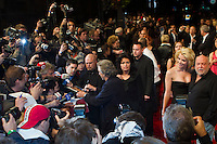 Celebrities arrive on the red carpet during the official opening of the Nobu restaurant in. Budapest, Hungary, Sunday, 10. October 2010. ATTILA VOLGYI
