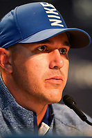 Brooks Koepka (USA) speaking in the media centre after his 2nd round at the PGA Championship 2019, Beth Page Black, New York, USA. 18/05/2019.<br /> Picture Fran Caffrey / Golffile.ie<br /> <br /> All photo usage must carry mandatory copyright credit (&copy; Golffile | Fran Caffrey)