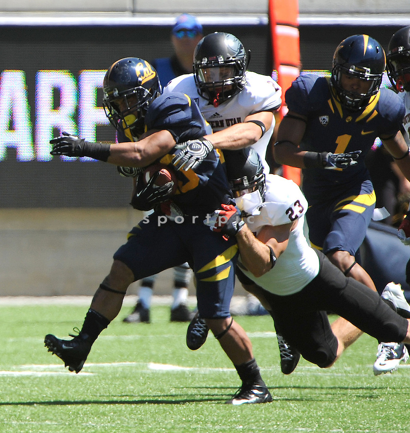 California Golden Bears Isi Sofele (20) in action during a game against the Southern Utah Thunderbirds on September 8, 2012 at Memorial Stadium in Berkeley, CA. Cal beat Southern Utah 50-31.