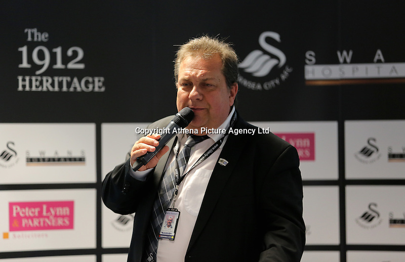Kevin John in the 1912 Heritage lounge during the Premier League match between Swansea City and Chelsea at The Liberty Stadium on September 11, 2016 in Swansea, Wales.