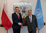 Secretary-General António Guterres meets with H.E. Mr. Andrzej Duda, President, Republic of Poland
