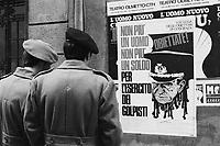 - propaganda for the conscientious objection to military service (Milan, 1974)<br /> <br /> - propaganda per l'obiezione di coscienza al servizio militare (Milano, 1974)